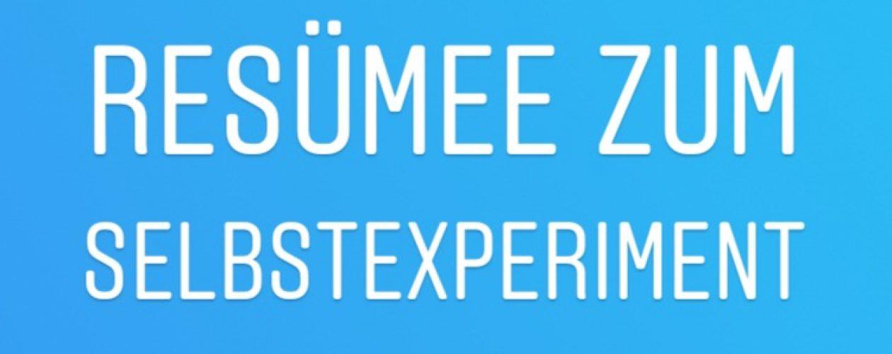"""Selbstexperiment """"Hartz-4"""" – Resümee"""